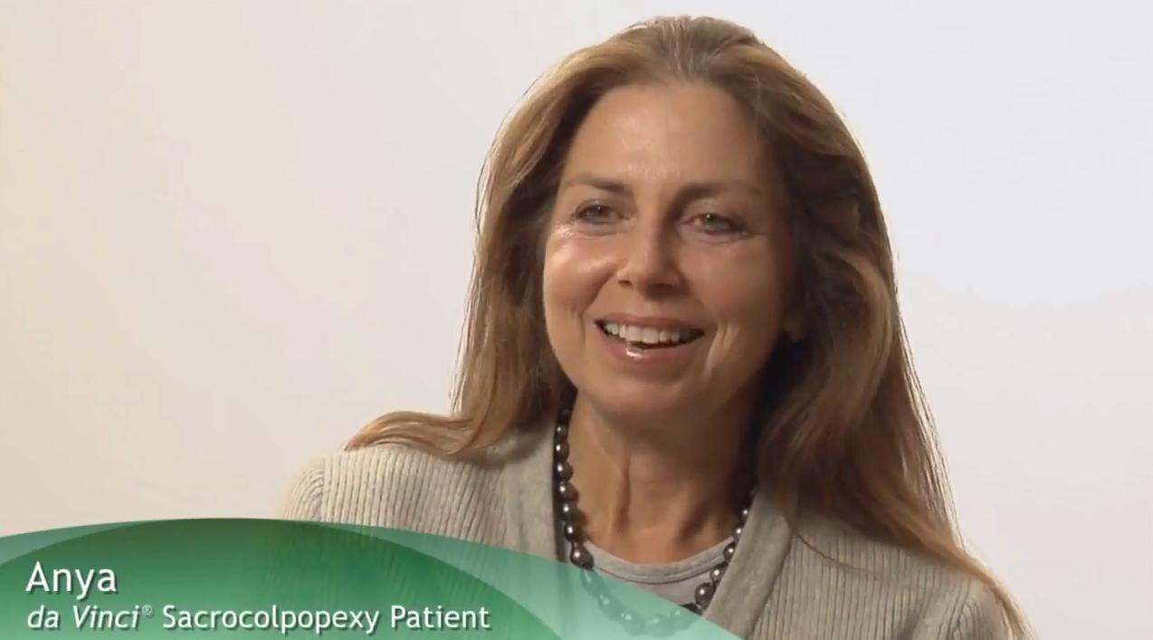da Vinci Surgery Sacrocolpopexy testimonial